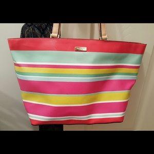 Kate Spade multicolored striped purse.